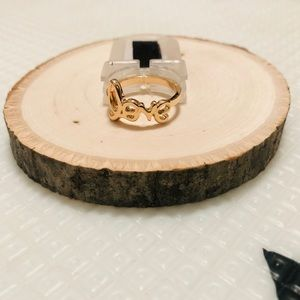 "Gold ""love"" Ring"